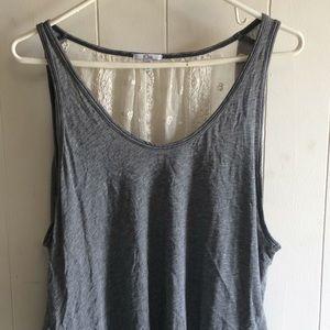 Gray lace back tank